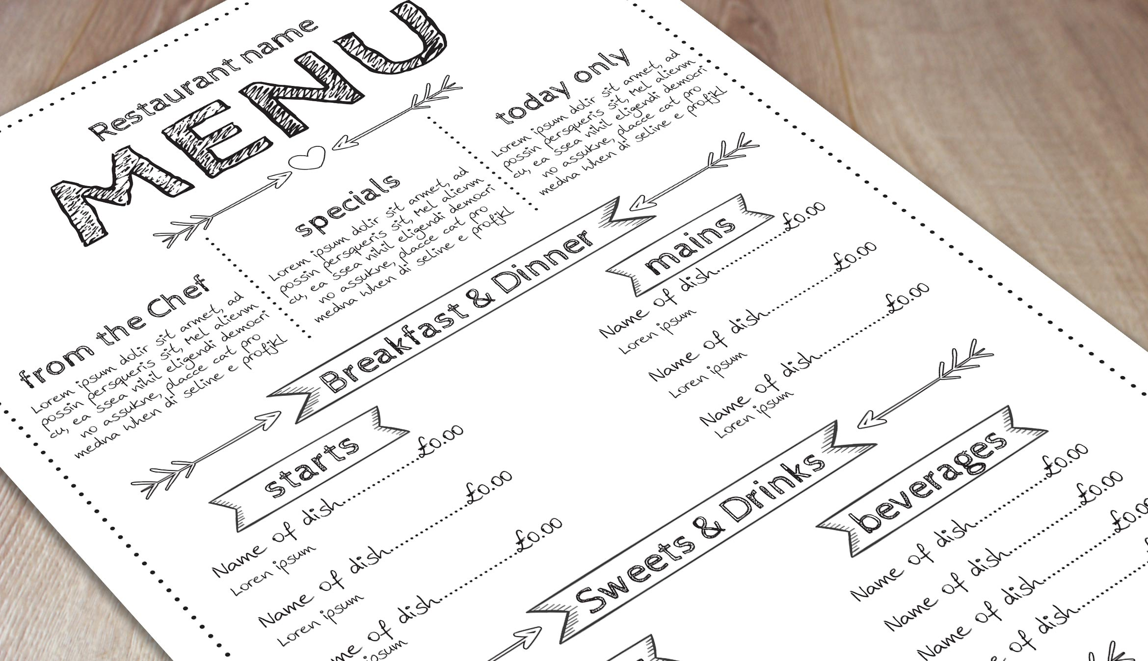 free printable menu maker example holiday menu templates free