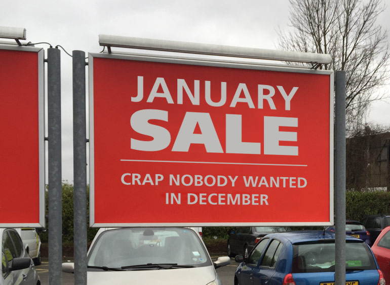 Honest-January-Sales-Poster