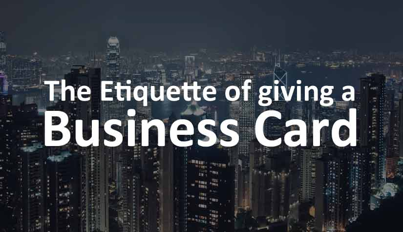 Whats the etiquette when giving a business card print and etiquette of giving a business card reheart Choice Image